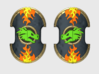 Dragon Head - Trojan Power Shields (L&R) 3d printed (x10) 5 Right & 5 Left Handed Shields