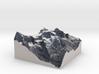 Jungfrau Map, Swiss Alps 3d printed