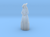 Woman Standing: Long Dress & Hat 3d printed