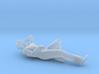Man Laying Right Arm & Leg Bent 3d printed
