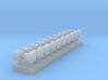 1:350 Scale Cargo Boxes on Pallets 3d printed