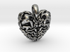 Dragon Heart Pendant 3d printed