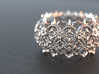 Thorns and  Flowers Silver Ring  3d printed