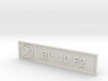 Bf 110 F2 Plaque 3d printed