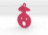 Mind Blown Emoji Pendant - Vibrant Colors 3d printed