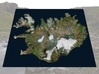 """Iceland Map, 8.5""""x11"""": Color 3d printed"""