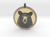 Black Bear Portait Animal Totem Pendant 3d printed