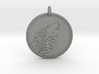 Gray wolf Animal totem Pendant 2 3d printed