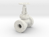 Globe valve 22mm holes scale model 3d printed
