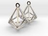 Triakis Tetrahedron Earrings 3d printed