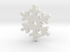 Snow Crystal Silhouette Keychain 3d printed