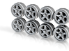 S1J 11-3 Hot Wheels Truck Offroad Style Rims 3d printed