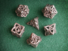 Celtic Dice Set 3d printed Printed in Stainless Steel