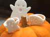 XL Ghost Ring 3d printed Shown with Small Ghost and Boo Rings