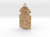 Mayan Mask Pendant (precious metals) 3d printed
