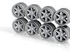 Large PCD TE37 Truck Hot Wheels Rims 3d printed