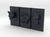 Cat Triptych-Faced Caricature (003) 3d printed