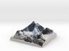 """Matterhorn / Monte Cervino Map: 4"""" (10.1 CM) 3d printed"""