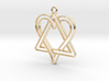 Heart and triangle intertwined 3d printed
