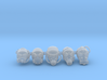 28mm Postapoc half-ogre heads 3d printed