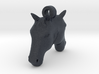 Horse Back-To-Back Earring 3d printed
