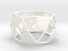 Deltoidal Hexecontahedron Tealight Ring 3d printed