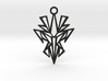 Dark symmetry pendant 3d printed