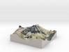 """Capitol Peak Map: 6"""" 3d printed"""