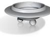 Planter - Porcelain UFO Succulent Planter  3d printed