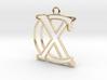 Initials C&X monogram 3d printed