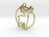 Deer & circle intertwined Pendant 3d printed