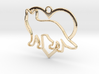 Fox & heart intertwined Pendant 3d printed