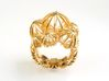 Sea ​​Urchin Ring 3d printed Ring Sea Urchin Gold