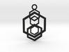 Geometrical pendant no.5 3d printed
