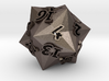 Faceted - D20 numerically balanced dice 3d printed