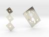 Asymmetrical Stunning Card Earrings  3d printed