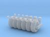 SET 4 Bollards and 6 dock bumpers (N 1:160) 3d printed