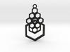 Geometrical pendant no.4 3d printed