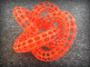 Webbed Knot with Intergrated Spheres 3d printed