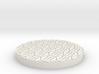 """Hex Grate 1"""" Circular Miniature Base Plate 3d printed"""