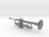 1/3rd Scale B Flat Trumpet 3d printed