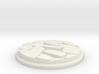 Uneven Cobblestone Miniature Base Plate (25mm) 3d printed