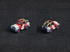 Miniature Jeep 20mm (1 - 4 pcs) 3d printed Hand-painted white plastic