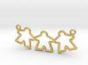 Meeple gamers pendant (Triple) 3d printed