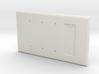Philips HUE Single Dimmer Plate 4 Gang Blank 3d printed