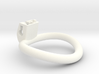 Cherry Keeper Wide Oval Ring - Multiple Sizes 3d printed