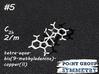 #5 C2h tetra-aqua-bis(methyladenine)-copper 3d printed Shown material: White Natural Versatile Plastic