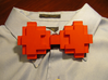 8-bit Bow tie 3d printed The prongs fix onto dress shirt buttons
