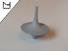 Spinning Top / Tol Inception 3d printed Polished Alumide (spinning)