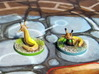 Slugs (4 pcs) - Mice & Mystics 3d printed Models hand-painted, after a quick sanding (game board with flagstones copyright Plaid Hat Games).